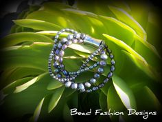 multistrand black pearl bracelet with magnetic clasp...$SOLD https://www.etsy.com/shop/BeadFashionDesigns