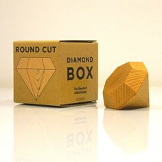 How To Propose to a Woman, Gorgeous Wooden Diamond Box, Small Jewellery Box, Engagement Ring Box, by Fort Standard, for Areaware