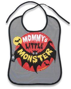 Six Bunnies Mommys monster bat bib alternative goth punk rock metal biker baby