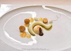Beautifully presented dessert by Team Norway - IKA Culinary Olympics 2012 - The Chicago School of Mold Making