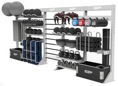 ESP Fitness | The ESP TotalStorage Modular Storage provides storage for all gym and fitness equipment including weights and functional training accessories.