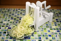 Create interesting spiral slices of fruits and vegetables with Paderno Spiralizer!