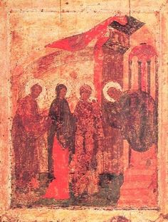 For the Orthodox world, the icon of Andrei Rublev The Presentation has a special meaning. Candlemas is a Christian holiday that completes the cycle of Andrei Rublev, Greek Icons, Russian Icons, Byzantine Icons, Religious Icons, King Of Kings, Orthodox Icons, Patron Saints, Moscow
