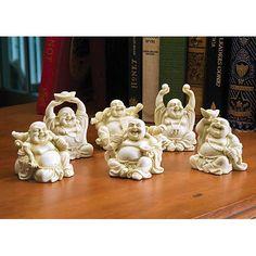 Laughing Buddha figurines