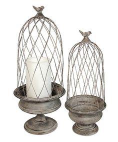 Look at this #zulilyfind! Birdcage Candleholder Set by Melrose #zulilyfinds