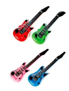 Rhode Island Novelty (Pack of Inflatable Rock Star Electric Guitar Pack): 25 Pack of inflatable guitars. Great fun for any party! Fun filler for any party bag! Journey Music, Guitar Party, Rockstar Birthday, Rhode Island Novelty, One Year Birthday, Rock Star Party, Fun Express, Thing 1, Music Party