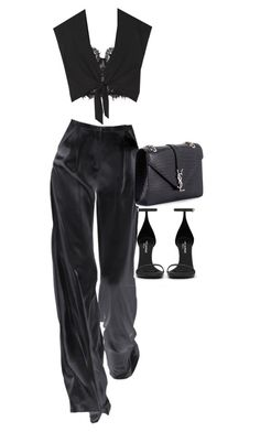 """""""Sem título #1390"""" by oh-its-anna ❤ liked on Polyvore featuring Alice + Olivia and Yves Saint Laurent"""