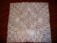 My work. Hand knit lace. Pattern Hannelore by Herbert Niebling.