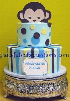 Babyshower monkey Cake