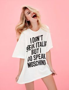 6021a6016f180b moschino love Graphic Tees