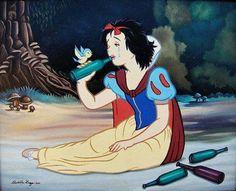 Princesa ahogando penas