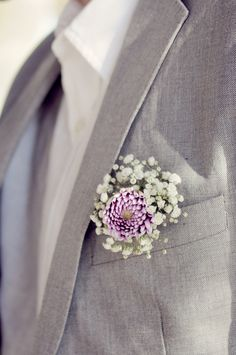 grey and purple groom