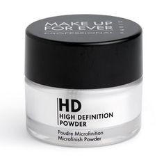 The Makeup Forever HD powder is so interesting! There are literally puffs of smoke coming off the makeup brush when it is being applied! It makes the skin stay matte all day, and it feels light as air! :)