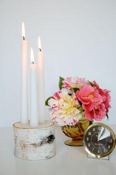 Beautiful Birch Candlestick