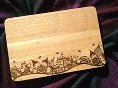 Henna inspired, chopping board, can be personalised. by RedrainbowGifts on Etsy https://www.etsy.com/uk/listing/290916751/henna-inspired-chopping-board-can-be