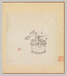 Miscellaneous Studies, one leaf dated 1619, Chen Hongshou (Chinese, 1598–1652)