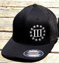 02fe5cd1767 Black 3 Percenter Flex Fit Cap Support Our Troops