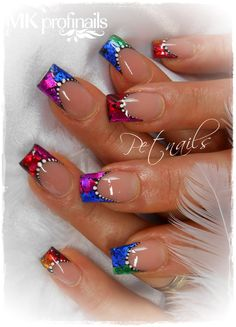 Make an original manicure for Valentine's Day - My Nails Nail Tip Designs, Acrylic Nail Designs, Art Designs, Acrylic Nails, Pretty Nail Art, Beautiful Nail Art, Fabulous Nails, Gorgeous Nails, Nagellack Design