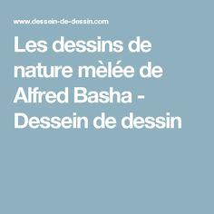 Les dessins de nature mèlée de Alfred Basha - Dessein de dessin