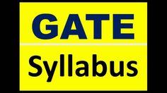 GATE Syllabus, GATE Preparation