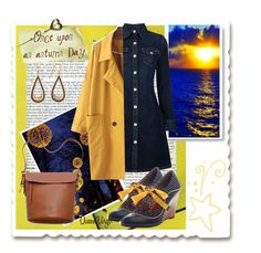"""Autumn Sunset"" by queenvirgo on Polyvore featuring AG Adriano Goldschmied and FOSSIL"