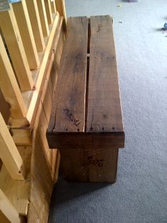 a mix of an old pallet and barn wood