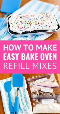 How To Make Easy Bake Oven Mixes You are in the right place about Baking desserts Here we offer you the most beautiful pictures about the Baking with kids you are looking for. When you examine the How To Make Easy Bake Oven Mixes part of the picture you … Easy Bake Oven Refills, Easy Bake Oven Mixes, Easy Bake Cake, No Bake Cake, Easy Bake Oven Cake Recipe, Dessert Simple, Kool Aid, Easy Oven Recipes, Cooking Recipes