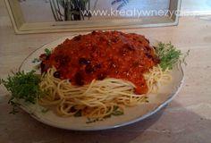 Moje spaghetti bolognese:) Zapraszam na www.kreatywnezycie.pl - tam dokładny przepis krok po kroku :)