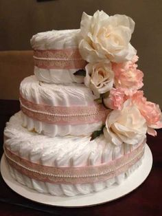 Ideas shabby chic baby shower decorations dessert tables for 2019 Deco Baby Shower, Fiesta Baby Shower, Shabby Chic Baby Shower, Baby Shower Diapers, Baby Shower Cakes, Baby Boy Shower, Baby Shower Gifts, Baby Gifts, Diaper Shower