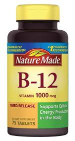 Vitamin B12 1000 mcg Timed Release Tablet Read more at http://www.naturemade.com/vitamins/b-vitamins/vitamin-b12-1000-mcg#mIAoY8TOQY9wXK1T.99
