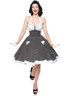 "Retro Fashion Robe Rockabilly Pin-Up Retro Années 50 Belsira ""Pink White Dots"" Look Rockabilly, Rockabilly Outfits, Rockabilly Fashion, 90s Fashion, Retro Fashion, Fashion Dresses, Vintage Fashion, Latex Fashion, Lolita Fashion"