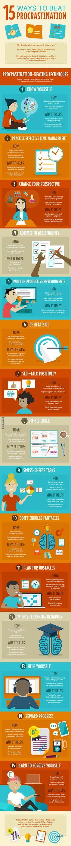 Ik stel altijd alles uit tot het laatste moment, dus is dit een leerzame infographic voor mij.