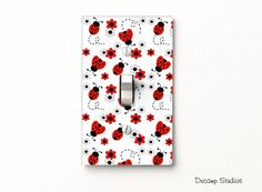 LADYBUG LIGHT SWITCH Cover Plate Wall Decor