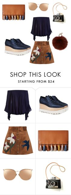 """Ugly Shoes"" by jessica-marshall-ii ❤ liked on Polyvore featuring Sans Souci, STELLA McCARTNEY, RED Valentino, Rebecca Minkoff, Linda Farrow and Yves Salomon"
