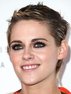 Kristen Stewart Boy Cut - Kristen Stewart worked a gelled boy cut during Elle's Women in Hollywood celebration.
