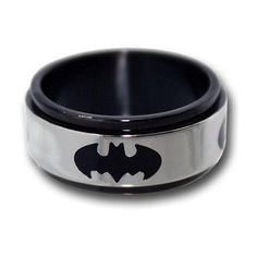 Cool Batman Superman Stainless Steel Rings for the Superhero Within... ❤ liked on Polyvore featuring jewelry, rings, accessories, batman, braceletes, stainless steel bracelet, bracelet ring, stainless steel jewellery, stainless steel rings and stainless steel jewelry