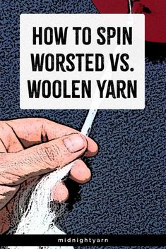 What does worsted vs. woolen mean? Learn fiber preparation and drafting techniques for spinning worsted, woolen & semi-worsted yarn. Spinning Wool, Hand Spinning, Spinning Wheels, Drop Spindle, Loom Knitting, Yarn Crafts, Loom Weaving, Fiber, Round Round