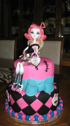 Monster High Birthday Cake for friends daughter