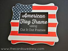 DIY American Flag Frame - The Cards We Drew
