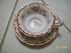 Vintage Pointons Tea cup and Saucer England Floral