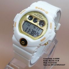 Casio BG-6900 (White) Merk   Casio Baby G Kualitas   Kw super Tipe   Unisex  (Pria dan Wanita) Diameter   4 cm Bahan  Rubber Display   Digital Fitur ... b2b8befaae