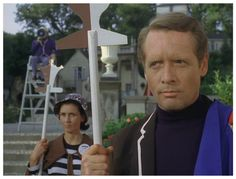 CHECKMATE: Chess is a game of subtle moves, and Number Six (Patrick McGoohan) wonders just what they are aimed at when he takes part in an unusual game being played in The Village.