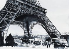For sale original - Eiffel Tower - Watercolor by nicolasjolly.deviantart.com on @DeviantArt