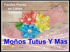 FLORES FÁCILES CON LISTÓN Paso a Paso SATIN RIBBON FLOWERS Tutorial DIY  How To PAP - YouTube
