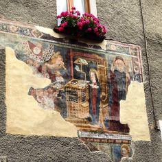 Affresco a tema mariano - Bormio (Sondrio)