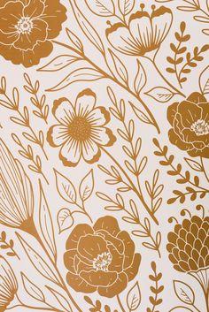Goldie Wallpaper - Print / Matte Paper - 36�W x 24�H