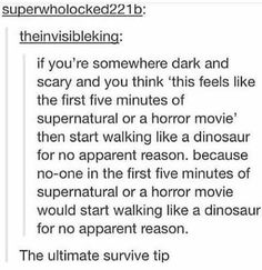 The Ultimate Survival Tip
