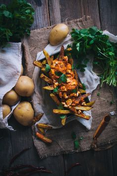 Oven Baked Curry Fries With A Tikka Masala Sauce