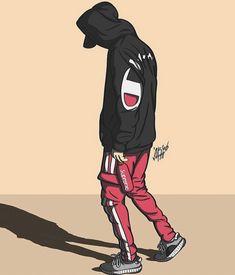 Iphone Wallpaper Jordan, Boys Wallpaper, Naruto Wallpaper, Cute Wallpaper Backgrounds, Dope Cartoons, Dope Cartoon Art, Odell Beckham Jr Wallpapers, Trill Art, Supreme Wallpaper