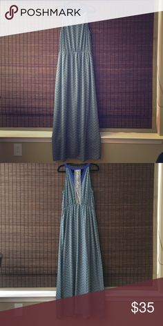 New Lucky Brand Maxi Dress Multi colored maxi dress. Never worn 100% polyester. Half slip comes with. Fits more like a large. Lucky Brand Dresses Maxi